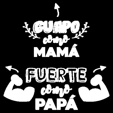 GUAPO como MAMÁ FUERTE como PAPÁ